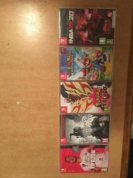 Juegos de Switch - FIFA 20 + NBA2K20 + Pokemon Escudo + Assassins Creed III + Mario Rabbids