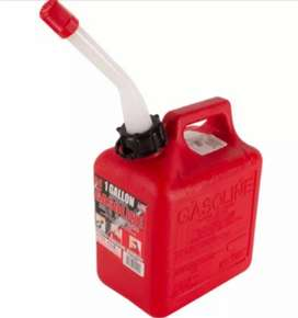 Bidón 1 Galon Embudo Gasolina Midwest 1100 Rojo Americano