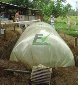 Plastico biodigestor de 2 tubular calb 8