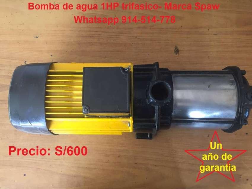 Bomba de agua 1HP trifasico -Marca Spaw 0