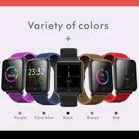 Smartwatch Q9 Monitor de ritmo cardíaco, presión arterial, IP67 impermeable, Deporte Fitness, reloj hombres mujeres