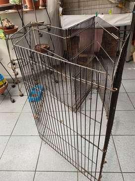 Corral Jaula Para Perros de fierro plegable 5.30 mt x 90 cm de alto