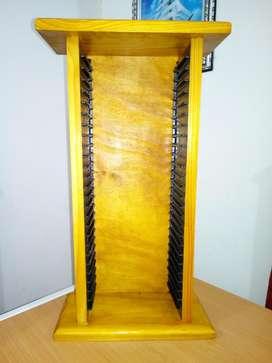 Porta dvd de madera