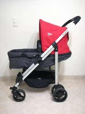 Coche para bebé Buin lucky 3s gris con rojo como nuevo