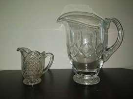Duo de jarras de vidrio