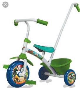 Triciclo Infantil con Barral Mickey
