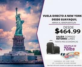 Viaja a NY, precios irresistibles