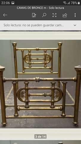 4 camas antiguas de bronce  ,son antigüedades
