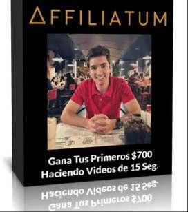 AFFILIATUM, GENERA 700 DOLARES CON VIDEOS DE 15 SEGUNDOS, PARA EMPRENDEDORES, POR MIKE MUNZVIL