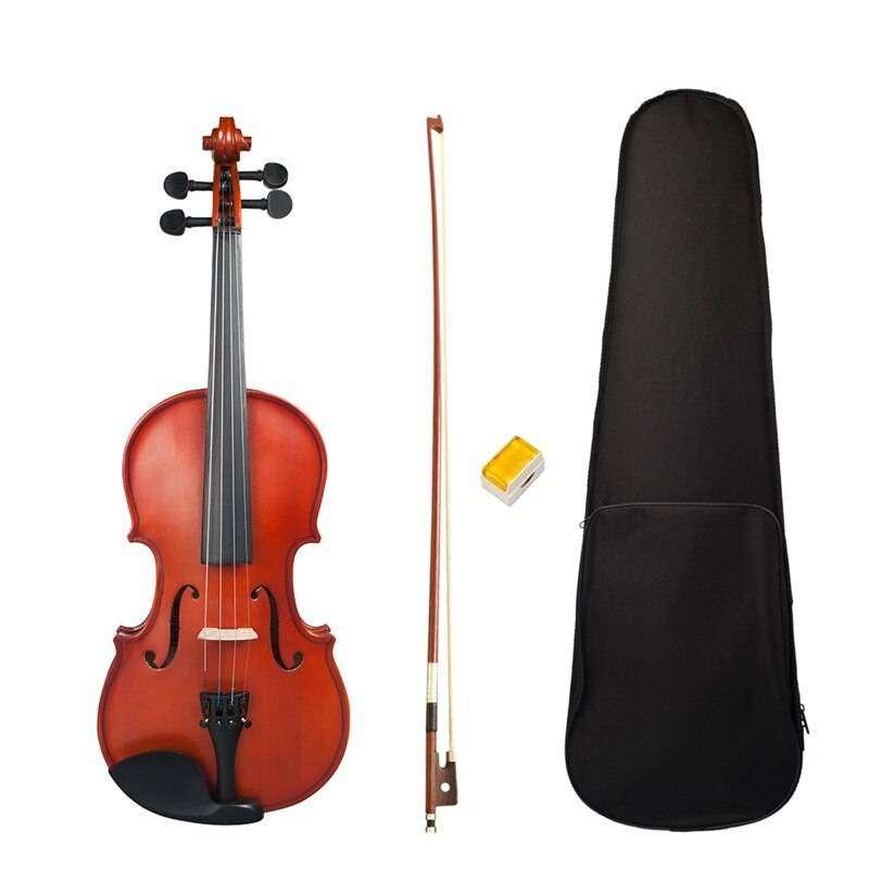 violin calibrado con arco puente pez estuche 0