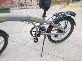 increíble bicicleta nueva foldable marca RALEIGH