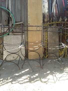 Sillas de hierro estilo Romano