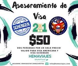 Asesoría Integral de Visa Americana y Schenguen