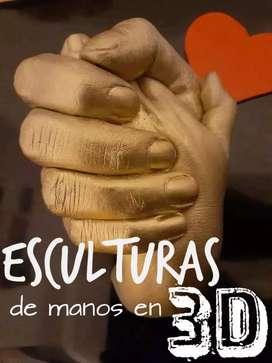 Manos entrelazadas Escultura 3D