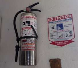 Extintores tipo k y multipropósito