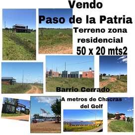 VENDO TERRENO 20x50 PASO DE LA PATRIA