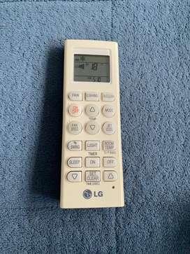 Control aire acondicionado LG