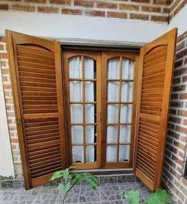Puertas Ventanas con persiana de madera Olblac