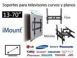 Soporte tv fijo  para SMART TV importado instalacion inmediata.