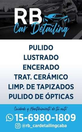 Limpieza de tapizados del automóvil y del hogar, detailing vehicular