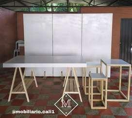 Alquiler de mobiliario para decoración mobiliario.cali1