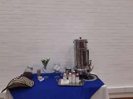 estacion de cafe, aromaticas, chocolate, agua natural