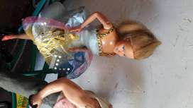 muñecos Barbie y Ken  de los años 80 edicion de Venezuela  incluye la bicicleta