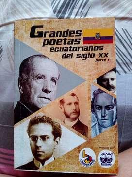 Libro ''Grandes poetas ecuatorianos del siglo XX''