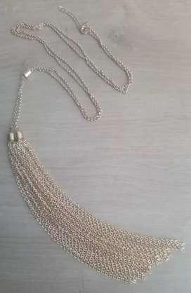 Collar fantasía dorado cadenas Nuevo