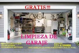 LIMPIEZA DE GARAJE GRATIS!!