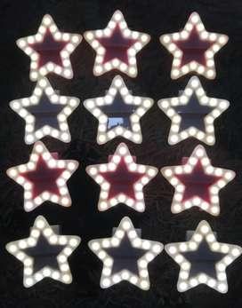 Aro de luz selfie en forma de estrella