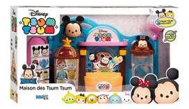 Casa De Tsum Tsum Squishies Toy Shop Con 2 Personajes Disney