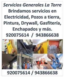 Electricista, Pozos a Tierra, Drywall