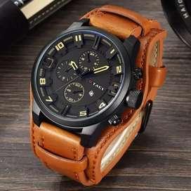 Reloj Cuero Análogo Fecha Hombre Ilusion Of Time Digi