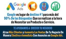 Publicidad En Google - Aumenta Las Ventas Y Atrae Más Clientes A Tu Negocio - Anunciarse En Google - Toda Colombia
