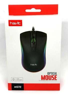 Mouse Gamer retroiluminado RGB 4 botones DPI intercambiable