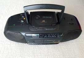 Grabadora Sony, reproductor de CD, Radio