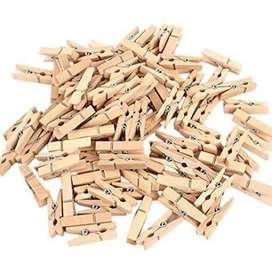 100 pcs Mini gancho madera