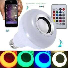 Bombillo Parlante Bluetooth Led Multicolor + Control Remoto_ref:01