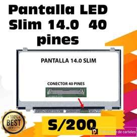 PANTALLA PARA LAPTOPS SLIM 14.0 30 y 40 PINES X MAYOR Y MENOR