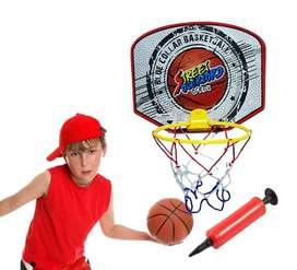 Aro De baloncesto + balón + inflador