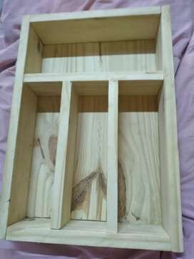 Porta cubiertos madera