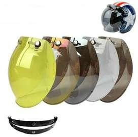 Visor Burbuja Moto Casco Clásico Tipo Cafe Racer + Adaptador