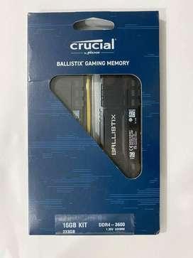 Crucial Ballistix - Kit de memoria RAM DDR4 3600MHz para computadoras de escritorio