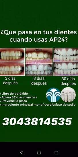 Tratamiento blanqueador de dientes