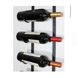Soporte Cava Bodega Vinoteca 7 Botellas 1m Diseño Vino Thira