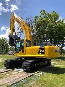 Excavadora komatsu pc 350 LC año 2012
