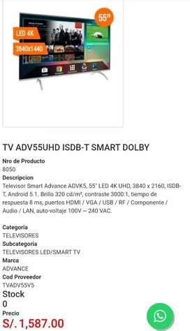 """SMARTTV ADVANCE 55""""4k CON GARANTIA EN CUSCO"""