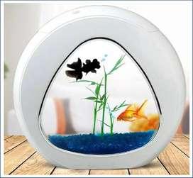 Mini Acuario Pecera + Bomba+ Luz Led +filtro +arena +plantas