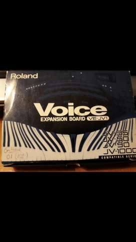 Expansion Sonidos Voice para Roland
